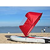"""Dyna-Living 42"""" Durable Downwind Wind Sail Sup Paddle Board Instant Popup for Kayak Boat Sailboat Canoe Foldable Style (Red)"""