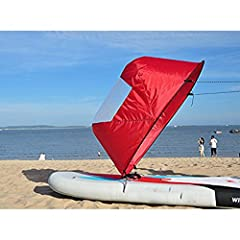 Fitment  Fits for Solo rec. boat to Touring kayak, SOT 8 - 15 feet Also applicable to Kayaks, Canoes, Inflatables, Tandems and Expedition boats with suitable size Specification Product Type: Kayak Sail Material: Polyester taffeta Color: Red W...