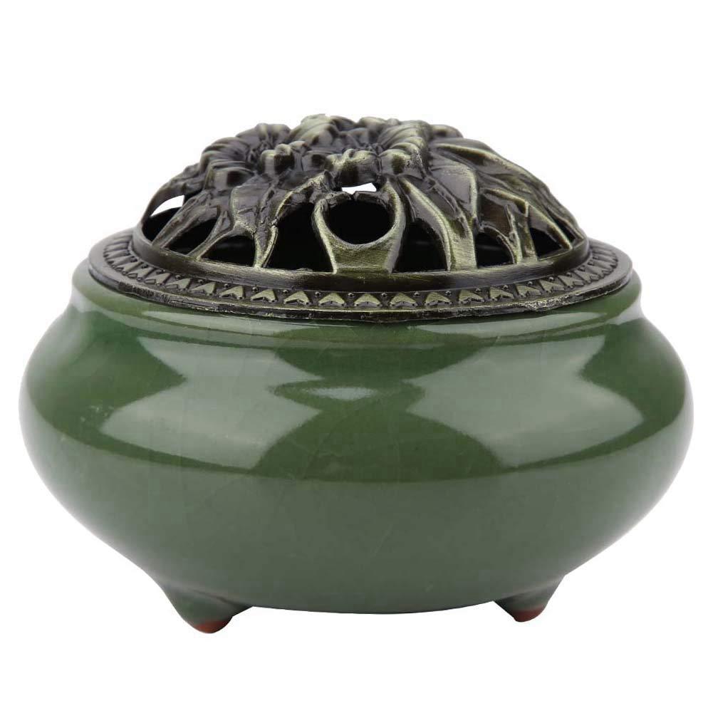 Adorno de Difusores de Aromaterapia Emerald Quemador de Incienso de Cer/ámica Porcelana de Humo Humo del Incienso Que Quita El Aroma del Horno Para Las decoraciones de La Sala de Estar