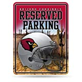 NFL Arizona Cardinals 8-Inch by 11-Inch Metal Parking Sign Décor