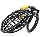 HYJHDD Black Metal Chastity Lock, Chaste Cage,5.0Cm