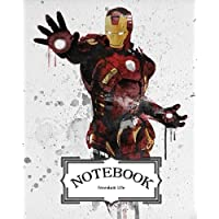 """Notebook: Watercolor Iron Man: Pocket Notebook Journal Diary, 120 Pages, 8"""" X 10"""" (Notebook Lined, Blank No Lined)"""