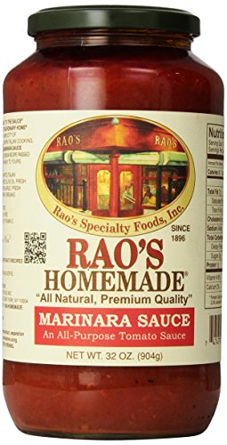 Rao's Specialty Foods, Marinara Sauce, 32 oz, Classic Italian Tomato Sauce, Great on Pasta, Made With Fresh Basil, Italian Tomatoes, Garlic, and Seasonings, No Sugar Added Homemade Tomato Sauce