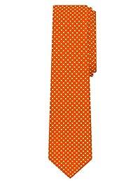 Jacob Alexander Polka Dot Print Boys Regular Polka Dotted Tie - Orange