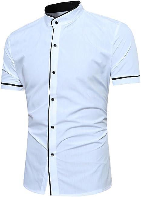 Sunnyuk Camisa Transpirable para Trabajar Fiesta de Manga Corta Hombre Caballero Verano: Amazon.es: Deportes y aire libre