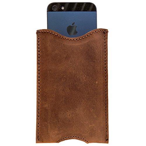 Rustic Leather iPhone 5 Sleeve Handmade by Hide & Drink :: Bourbon Brown