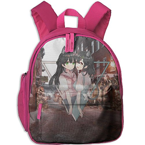 Small School Bookbag Making With Anime Girls For Kindergarten Unisex Kids Pink