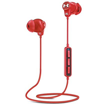 85193c07cee Image Unavailable. Image not available for. Color: JBL Under Armour Sport  Wireless In-Ear Headphones Red