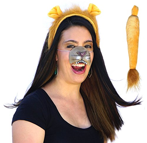 Lion Ears, Tail, Nose Costume Kit Accessories