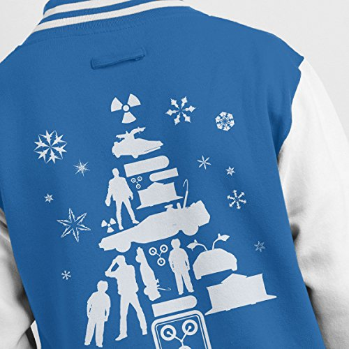 Future Christmas Royal To Tree Silhouette Men's Varsity White Jacket white Back The WRE1vxnRa