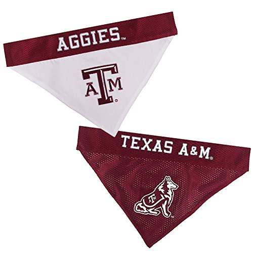 - Texas A&m Aggies NCAA Mesh & Premium Embroidery Dog Reversible Bandana (Texas A&m Aggies, Small/Medium 9.5