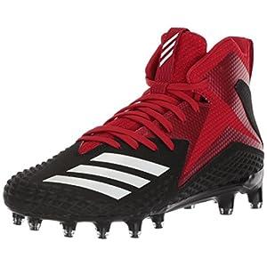 adidas Performance Men's Freak X Carbon Mid Football Shoe, Black/White/Power Red, 10.5 M US