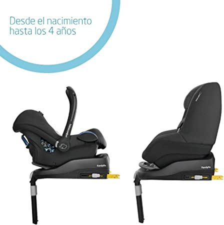 Bébé Confort FAMILYFIX BASE - Base para silla de coche, homologación R44/04, para grupo 0+/1, 0-18 kg, uso con MC Cabriofix, BBC Pebble y BBC Pearl, color negro