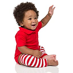 Red & white stripe baby leg warmers for boys and girls by juDanzy, One Size