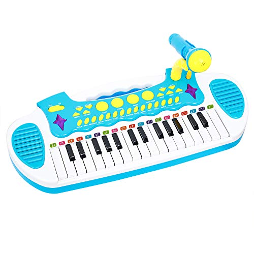 (Conomus Piano Keyboard Toy for Age 1 2 3 4 5 Year Old Girls First Birthday Gift , 31 Keys Multifunctional Musical Electronic Toy Piano for Toddlers)