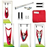Sensory Doorway Swing by DreamGYM | Therapy Indoor Swing | 92% Cotton | Hardware Included (Red)