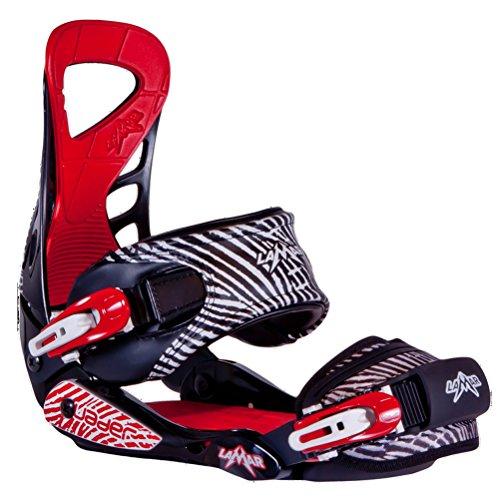 Lamar Vader Snowboard Bindings Medium Black-Red Sporting