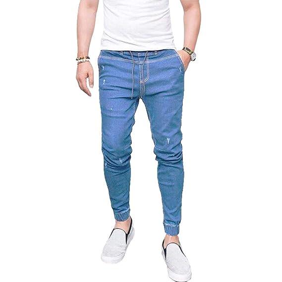 Elasticos Vaqueros Pantalones Casuales Suelto Hombres BSddqxI