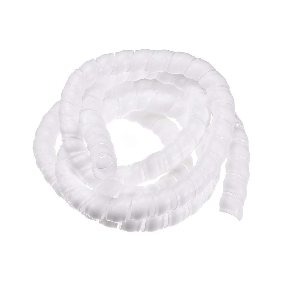 uxcell Flexible Spiral Tube Wrap Cable Management Sleeve 19mm X 22mm Computer Wire Manage Cord 2 Meters Length White: Amazon.in: Home Improvement