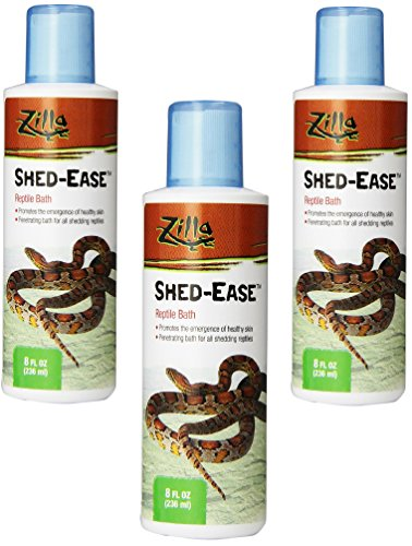 Zilla Reptile Health Supplies Shed-Ease Bath, 8-Ounce Bottles (3 Pack) by Zilla