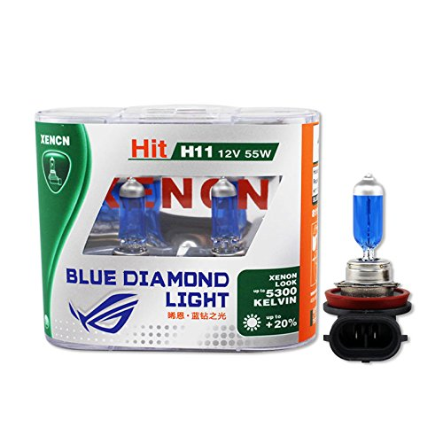 Xencn Car Head Fog Light H11 12v 55w 5300k Xenon Cool Blue Automotive Bulbs 2pcs
