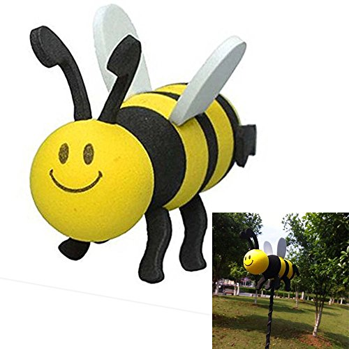 COGEEK Car Antenna Topper Cute Pilot Foam Antenna Ball Yellow