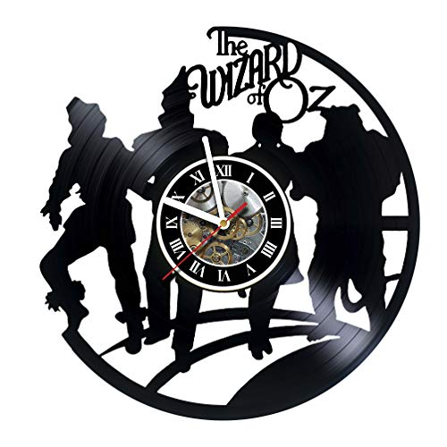 The Wizard of Oz - World Decor Vinyl Record Wall Clock - Exciting kidsroom Decor idea for Children, Adults, Men and Women