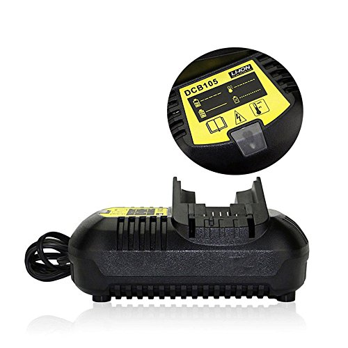 Li-ion Battery Charger Replacement Power Tool Battery Charger For DeWalt DCB101 DCB105 12V 20V MAX Li-ion Battery