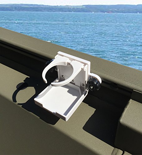 Brocraft Folding Cup Holder For Tracker Boat Versatrack System / Lund Sport Trak