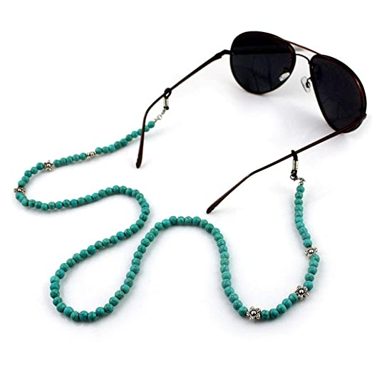 a653769dda Image Unavailable. Image not available for. Color  Bduco 2018 Fashion  Reading Glasses Chain Green Beads Anti-slip ...
