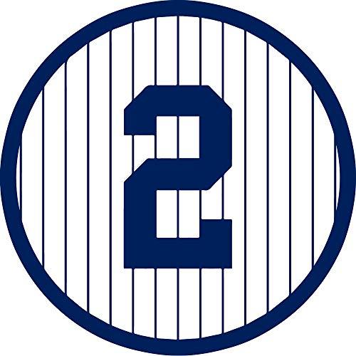 NBFU DECALS MLB New York Yankees 2 NY2 (Navy Blue) (Set of 2) Premium Waterproof Vinyl Decal Stickers for Laptop Phone Accessory Helmet CAR Window Bumper Mug Tuber Cup Door Wall Decoration ()