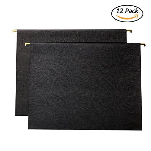 YOMA Hanging File Folders Alligator Print Luxury Set With 1/5-Cut Adjustable Tab 12Pack Matte Process