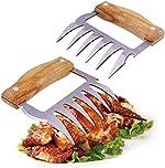 APRATA Pulled Pork Shredder Claws-BBQ Meat Shredder Claws Set of 2,Stainless