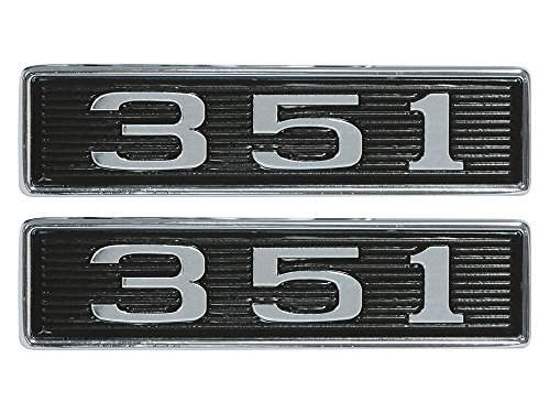351 Hood Scoop Emblems 1969 Mustang, Torino, Ranchero GT Left Right Pair (EBC9ZZ-16637CPR)