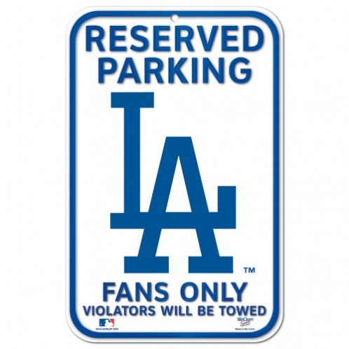 Fremont Die Official Major League Baseball Shop Authentic MLB Parking Sign - Man Cave and Bar (Los Angeles (Dodgers Street Sign)