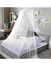 Universal White Mosquito Net, Crib Netting Bed Canopies, All Size Bed Canopy Netting for Indoor or Outdoor, Single Entries, Quick Easy Installation, No Chemicals Added
