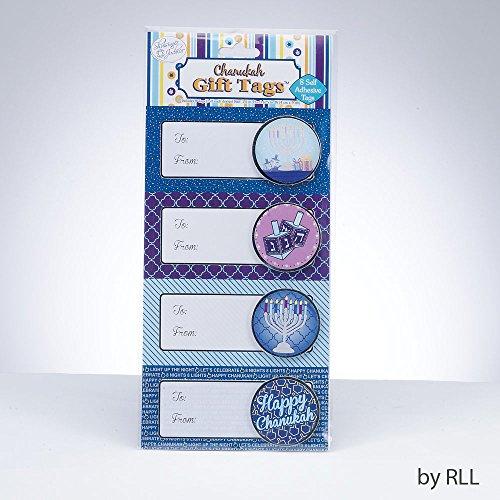 Chanukah Gift Tags - 8 Sefl adhesive