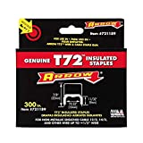 Arrow Fastener 721189 Genuine T72 Insulated Staple, for wires up to 1/2-Inch