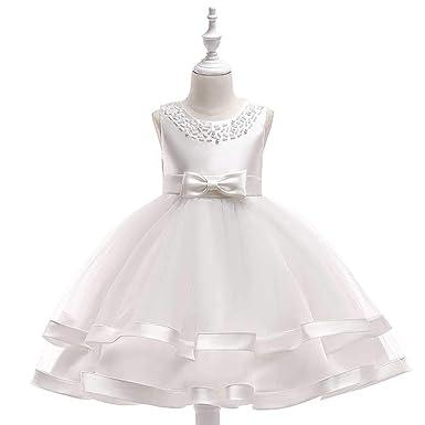 Ta-weo Girls Bowknot Vestido de Princesa de Encaje de Malla niña ...