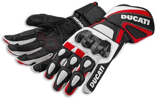 Ducati 2014 Performance Leather Glove by Spidi Red Black White Size X-Large XL