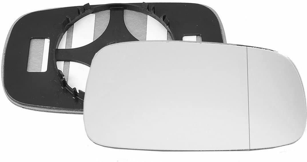 Driver right hand side wing door Silver mirror glass with backing plate #W-SN//R-RTSC04 Clip On