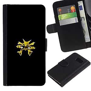 MobileX / Samsung Galaxy S6 SM-G920 / Alakazam P0Kemon / Cuero PU Delgado caso Billetera cubierta Shell Armor Funda Case Cover Wallet Credit Card