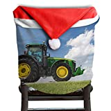 Christmas Decorations Santa Claus Hat Chair Back Covers Slipcovers Christmas Dining Room Chair Covers - John_Deere_8370r_Tractor