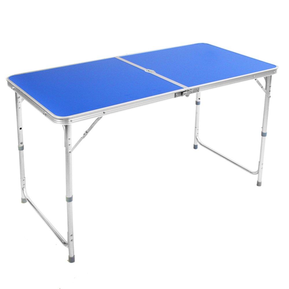ZZHF 折り畳みテーブル//ダブルポール補強/便利なポータブル/フォールディング/ダイニングテーブル/家庭折りたたみデスク/キャンプ折りたたみテーブル デスク ( 色 : D ) B07BFS4HB9 D D