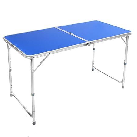 mesa plegable ZZHF Refuerzo de Doble Poste/Práctico portátil ...