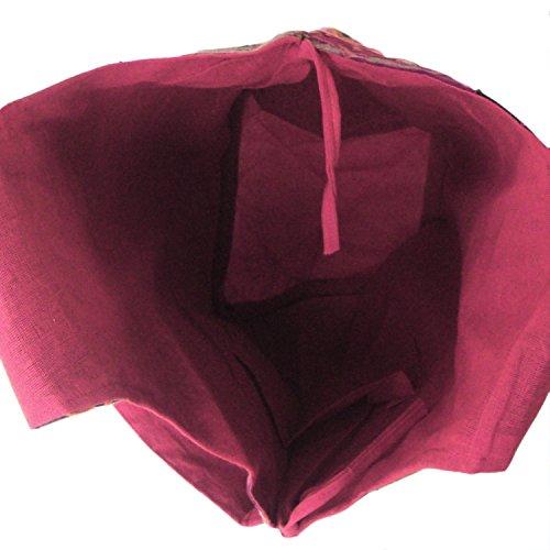 Baumwolle Verschiedene Zurückgefordert Hand bestickt, geklebt Patches Jhola Tasche