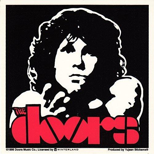 The Doors Jim Morrison Red Logo Sticker
