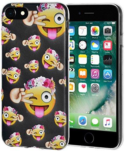 """Amzer Coque """"Face avec collé de langue avec clin Eye"""" Transparent Coussin en gel souple en TPU pour Apple iPhone 7"""