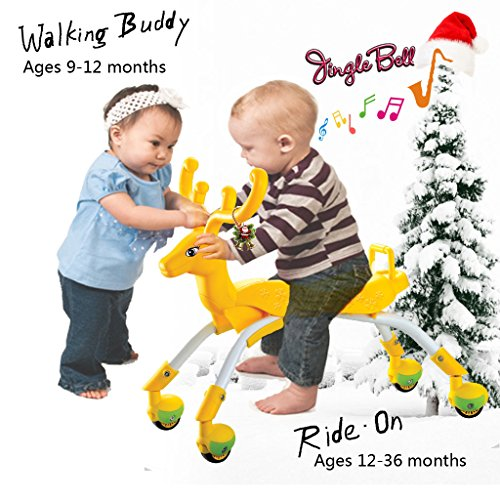 (Ride on Toys Toddler Scoot Push Car for 1 2 Years Old Baby Girls Boys Riding Walking Buddy - Roller Scooter with Wheels Tricycle Bike Balance Trainer Walker Assistant for Kids Children Activities)