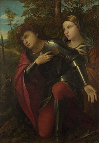 'Palma Vecchio Saint George And A Female Saint ' Oil Paintin